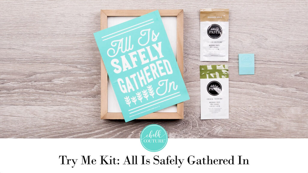 Try Me Kit: All Is Safely Gathered In - contents